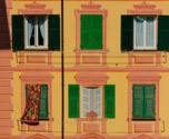 Faux windows in Ligure, Italy